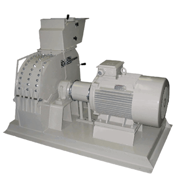 Scanhugger EU 3000 Hammermill also known as a pulverizer grinding coarse chips of solid wood, particleboard, and MDF into a predefined particle size.