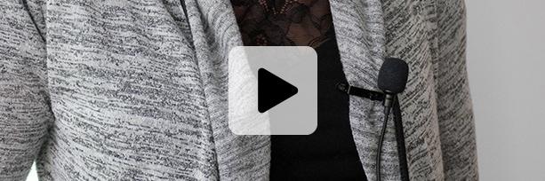 mini micro de visioconférence cravate sans fil