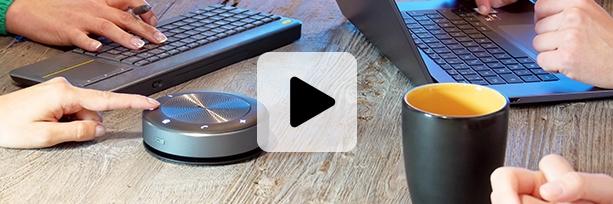 pieuvre micro de visioconférence haut-parleur sans fil télétravail