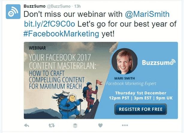 generer leads webinars buzzsumo