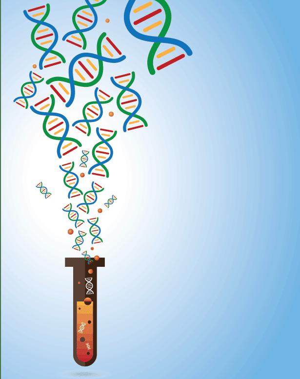 Cell-free DNA illustration