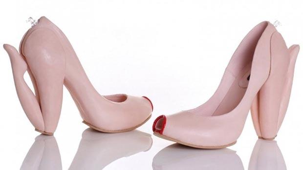 Weird shoes. Weird heel shoes