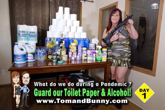 Day 1 - What do we do during a Pandemic - Guard our toilet paper