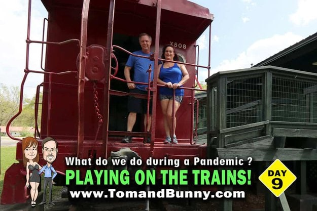 Day 9 - What do we do during a Pandemic - Play on the trains