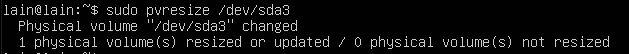pvresize option,Enlarge the LVM partition