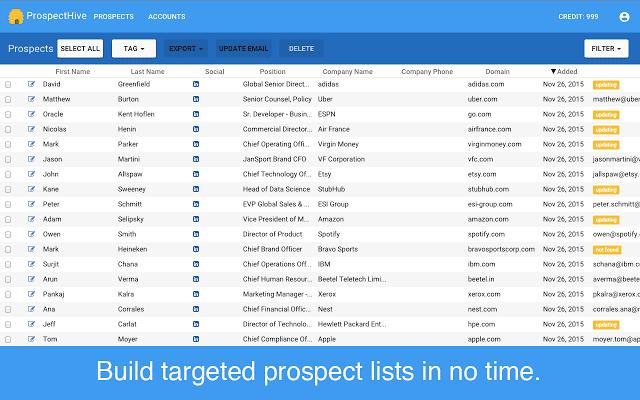 outils fichier prospection prospect hive