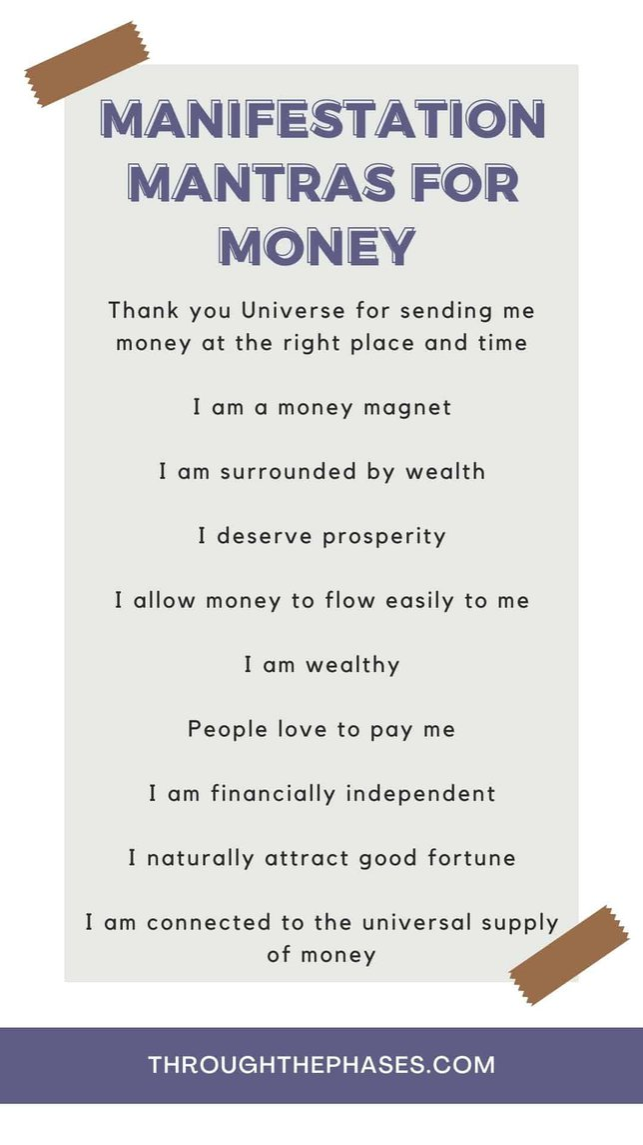 manifestation mantras for money