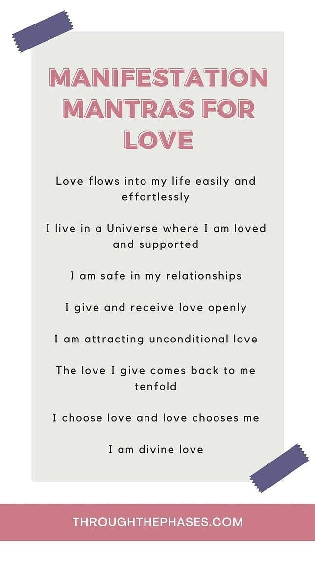 manifestation mantras for love