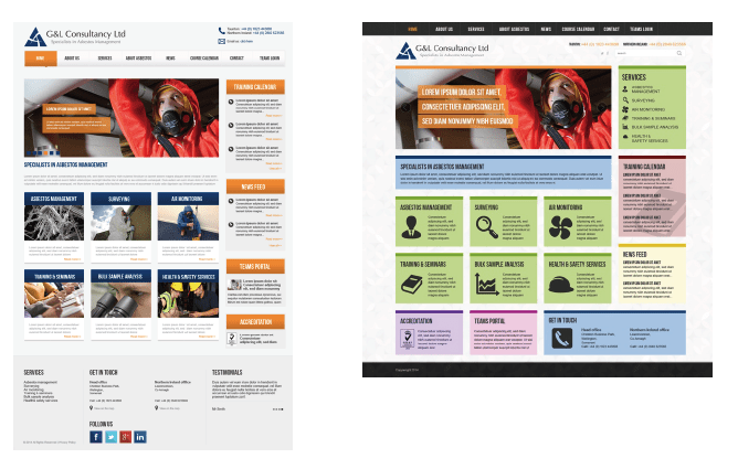 website visuals example