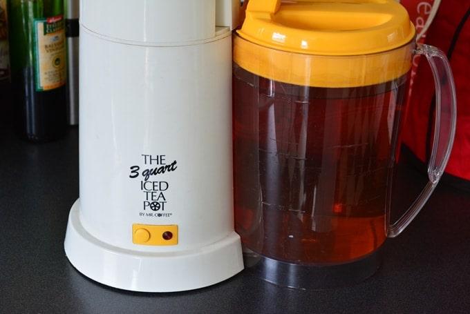 A Mr. Coffee ice tea maker.