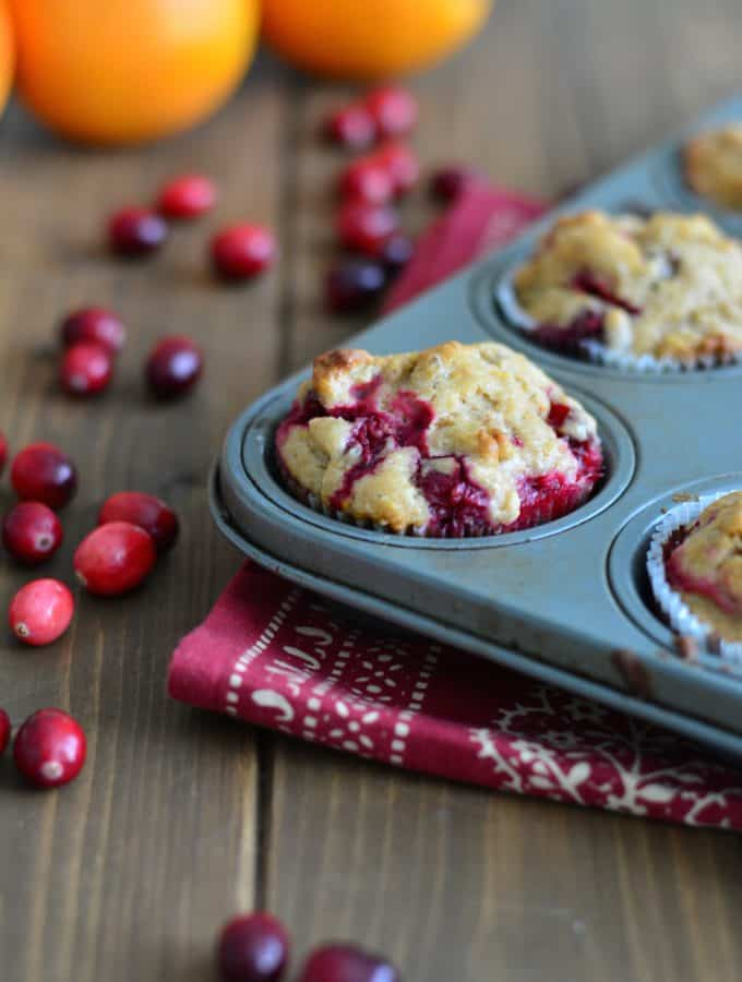 Cranberry orange muffin made with fresh cranberries and orange zest are perfect for you holiday breakfast or brunch.