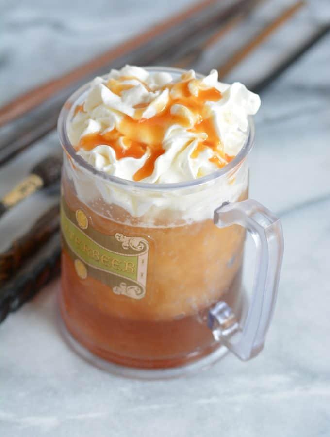 Homemade Butterbeer in a mug