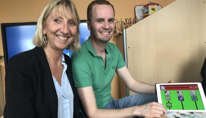 Un écran interactif pour compléter le dispositif numérique de l'hôpital de jour d'Hénin-Beaumont