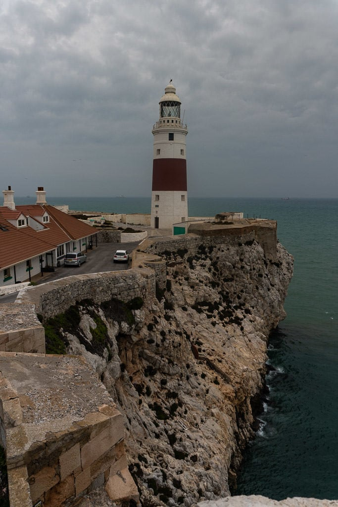 cliffs and europa point lighthouse on quick trip to gibraltar
