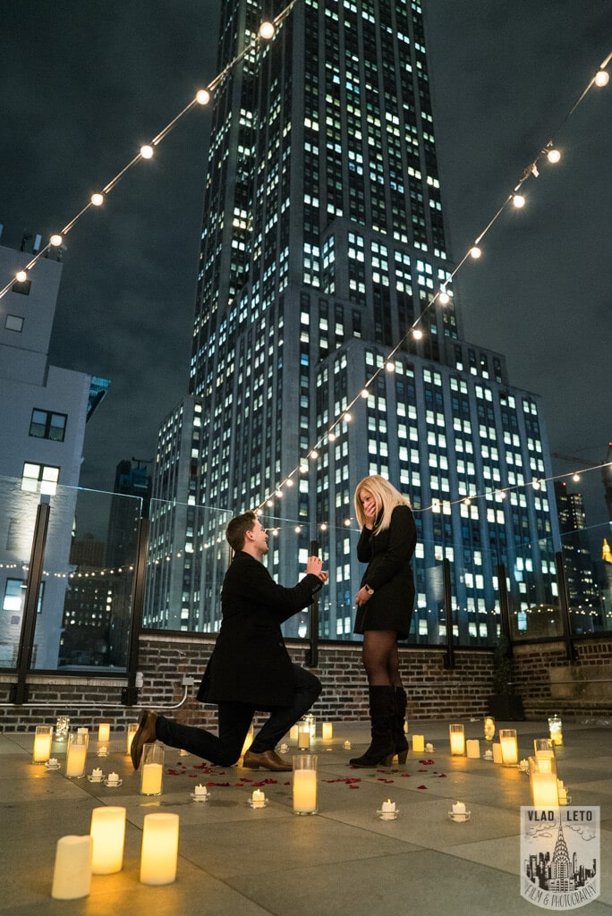 Photo Private Rooftop Proposal with Empire State Building view