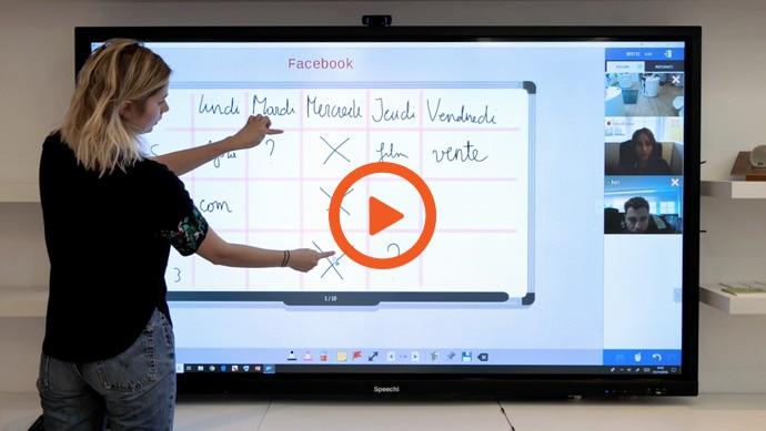 La vidéo du logiciel Tamashare sur écran interactif