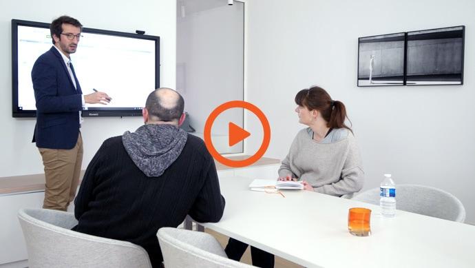 vidéo témoignage utilisation écran interactif en entreprise