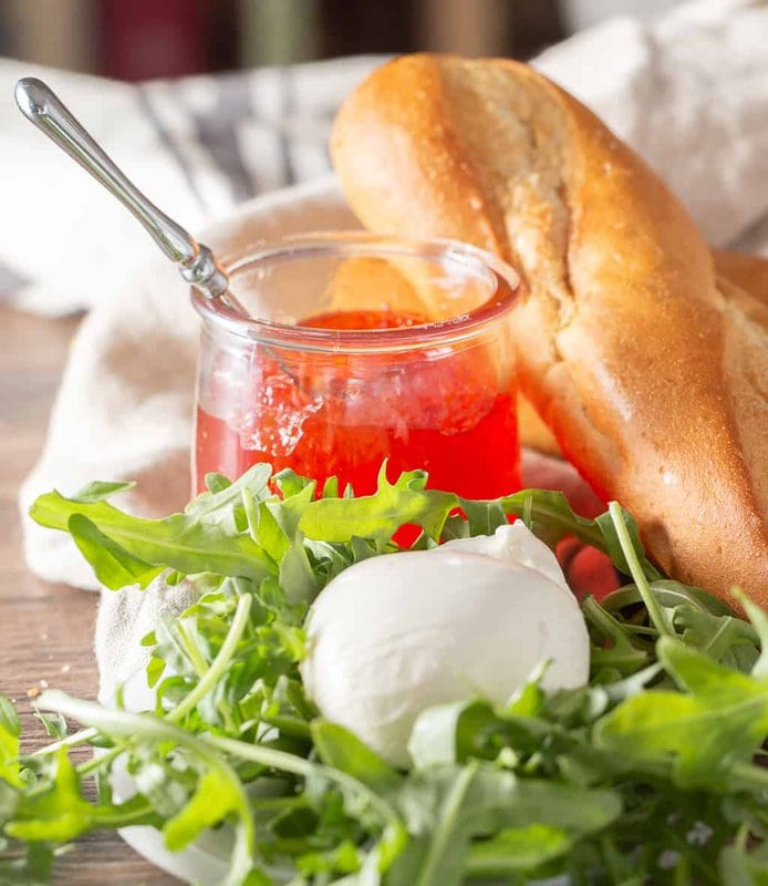 ingredients for burrata appetizer