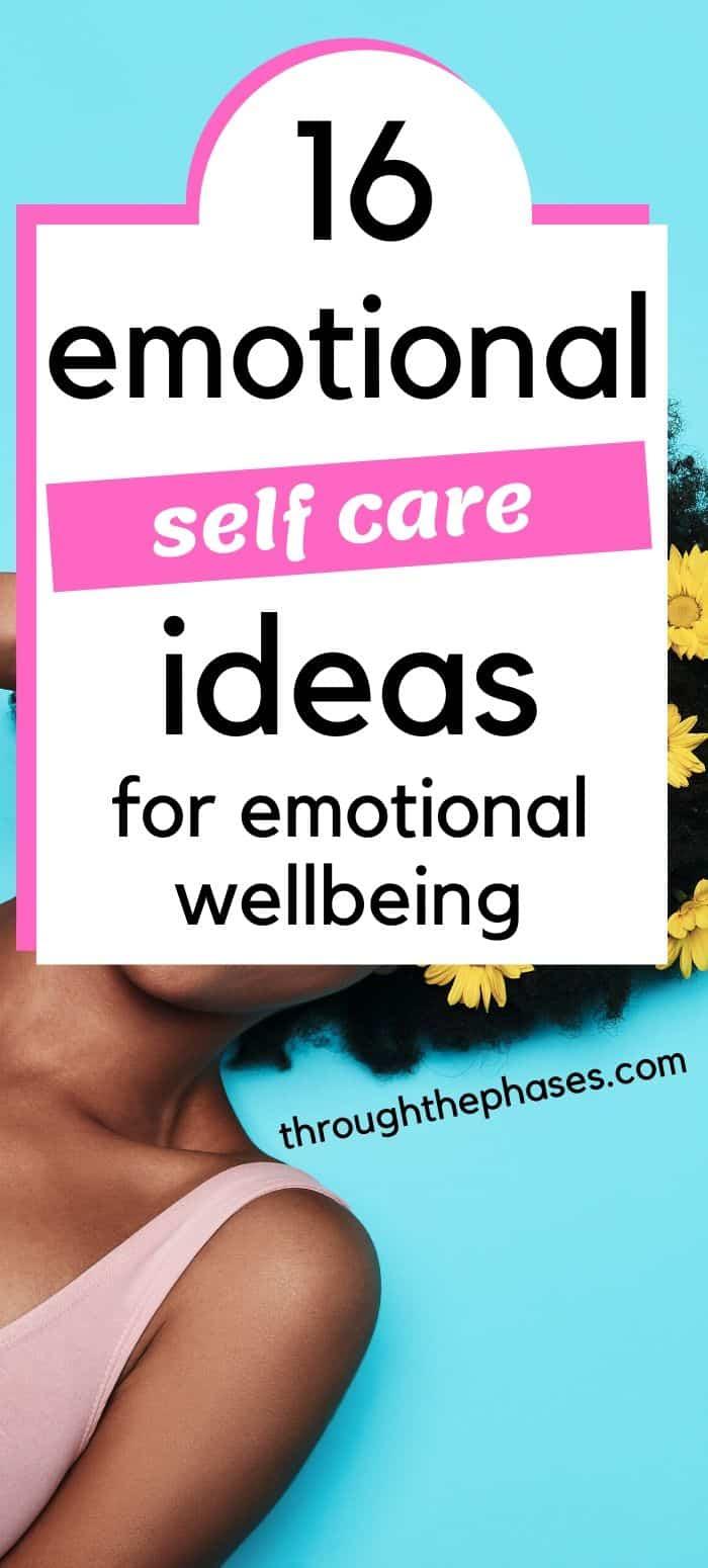emotional self care ideas