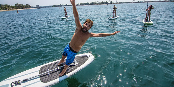 A wider inflatable paddle board is more stable.