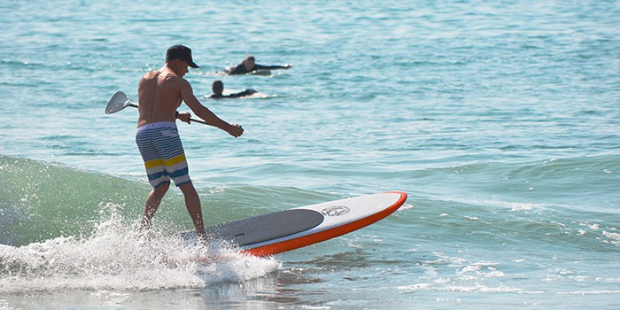 You can inflatable paddle board on all kinds of bodies of water, even surf in the ocean.