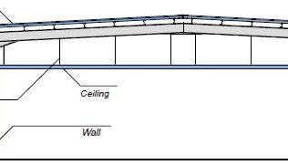 Sistema isolato internamente con parziali pareti esterne - disegni tecnici - pannelli termici srl