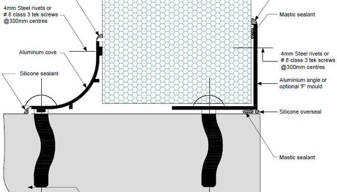 Dettaglio parete pavimento non isolato E PF06 - disegni tecnici - pannelli termici srl