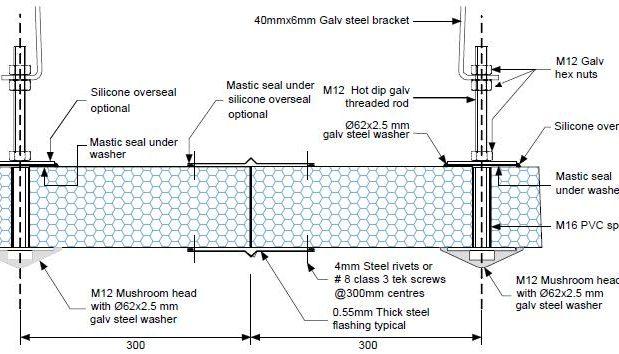 Dettaglio soffitto principale in sospensione G PF08 - disegni tecnici - pannelli termici srl
