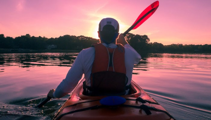 Inflatable life jackets (PFD's) can even be used for kayaking