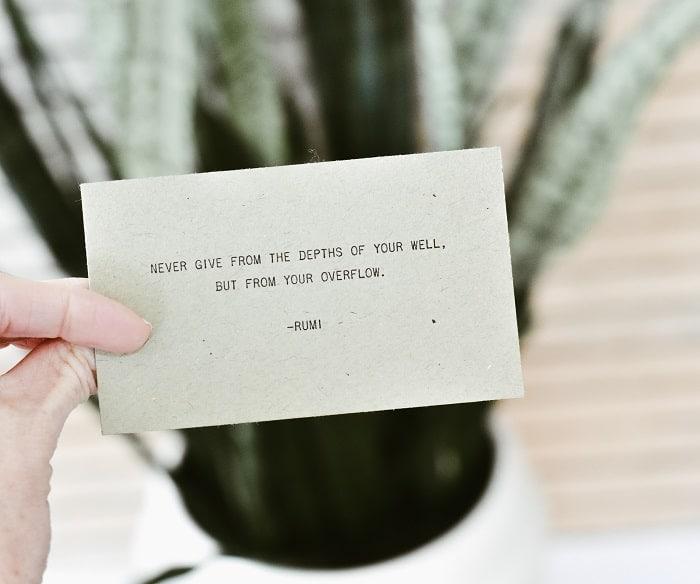 spiritual self care quote