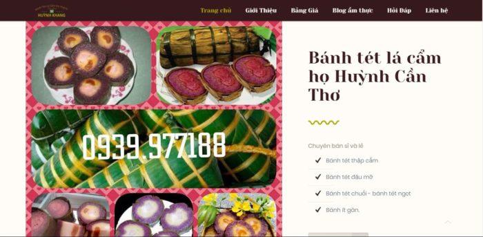 Bánh tét lá cẩm họ Huỳnh