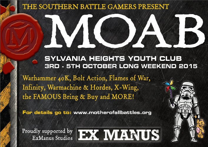 Ex Manus Studios is proud to sponsor MOAB 2015