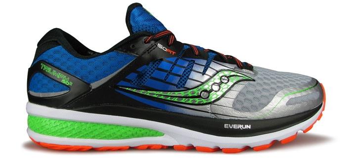 Рис.2 В модели Triumph ISO 2 используется гораздо больше Everun, но тем не менее, эти кроссовки не ощущаются такими же отзывчивыми как  Guide 9