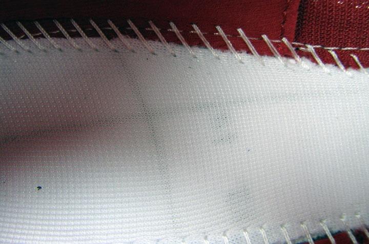 Простая ткань, покрывающая колодку.