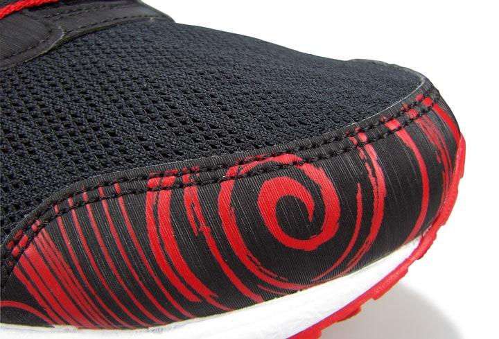 Дизайн накладки сохраняет место для пальцев ноги.