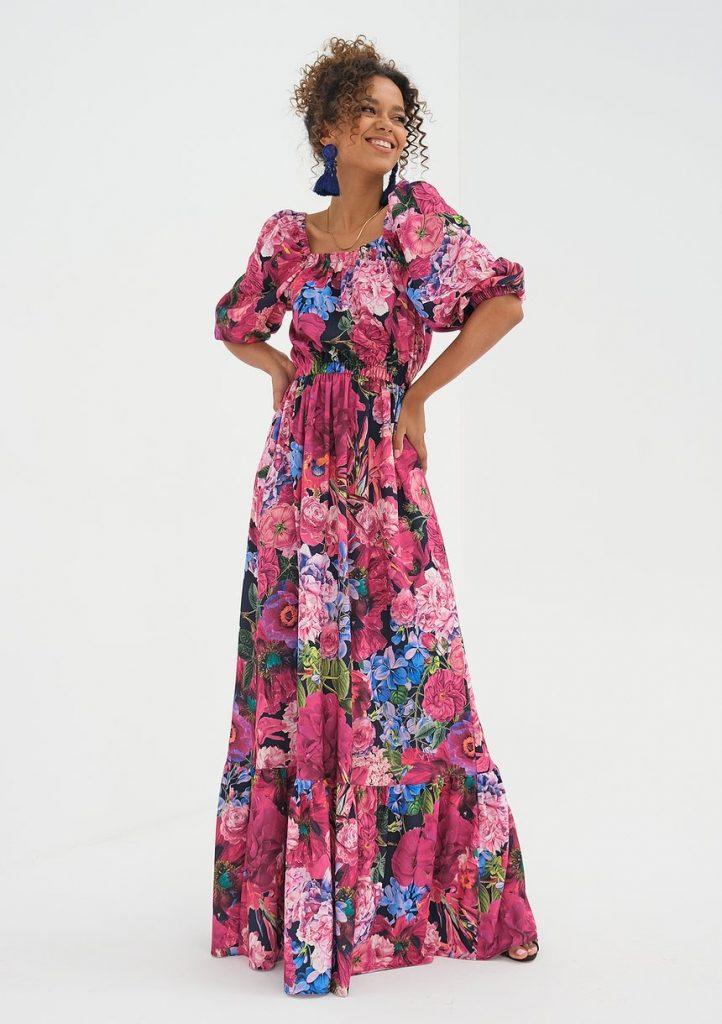 Sukienka maxi Pink Flowers