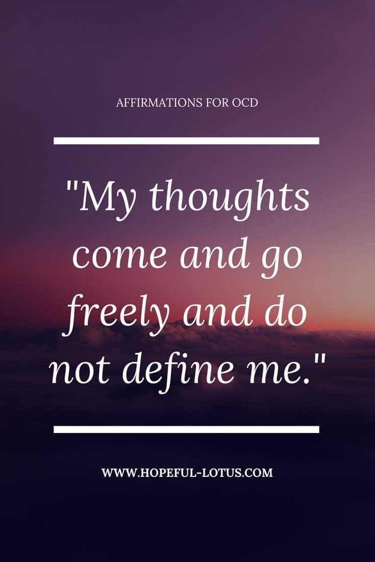 Obsessive Compulsive Disorder can be overwhelming and debilitating. Using positive affirmations for OCD can help calm symptoms of OCD by working with the law of attraction. Incorporate these mantras for Obsessive Compulsive Disorder into your meditation or mindfulness practice for natural anxiety relief.