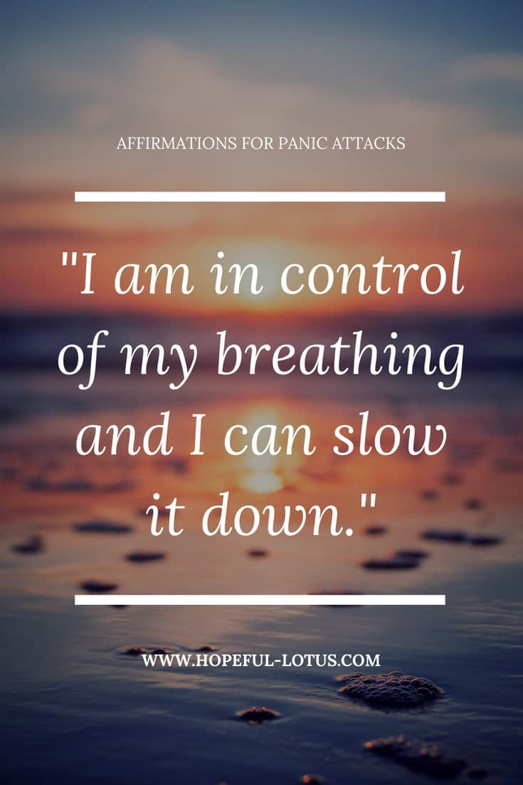 Panic attacks can be overwhelming and debilitating. Using positive affirmations for panic attacks can help calm symptoms of panic disorder by working with the law of attraction. Incorporate these mantras for panic attacks into your meditation or mindfulness practice for natural anxiety relief.