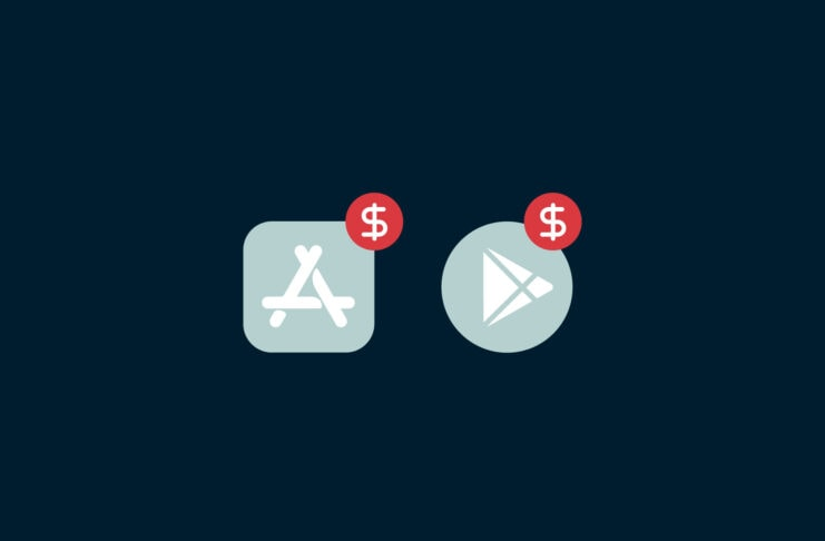 App icons with dollar signs.