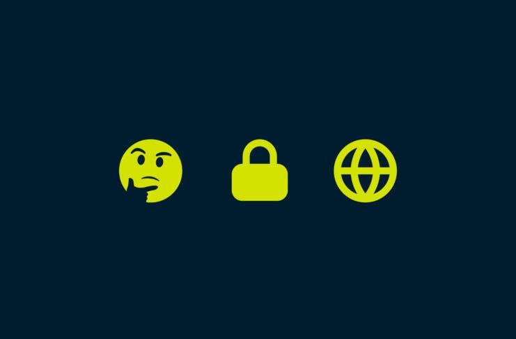 Thinking emoji, lock emoji, and internet emoji.
