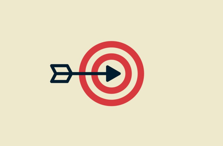 An arrow hitting a target representing niche streaming services
