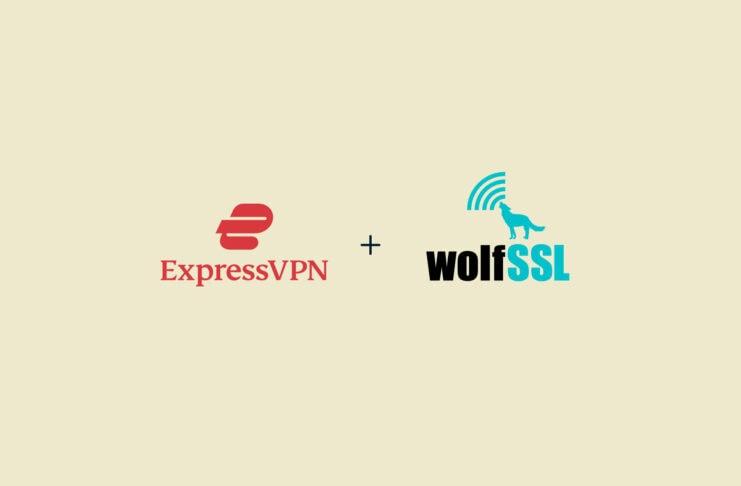 ExpressVPN and wolfSSL logos.