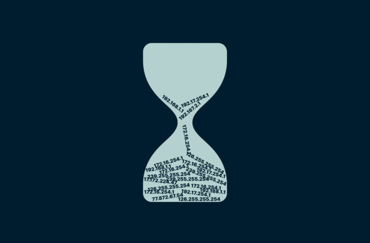 IP addresses in an hourglass.
