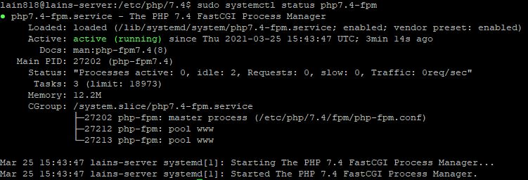 6. checking status of PHP7.4-PHP