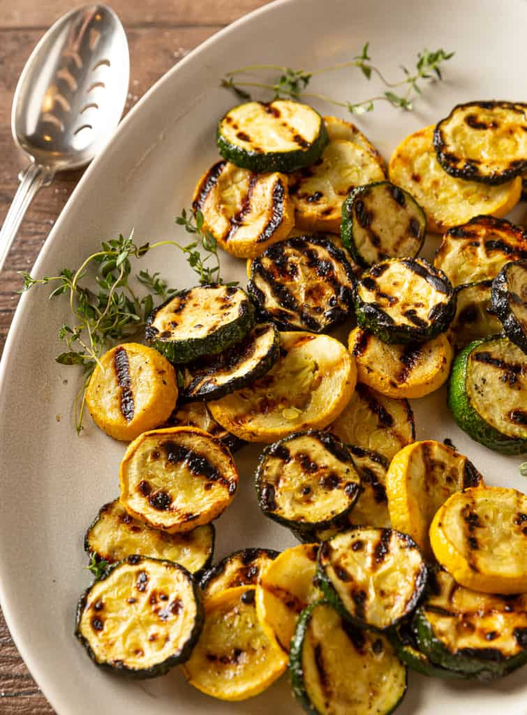 grilled zucchini and yellow squash