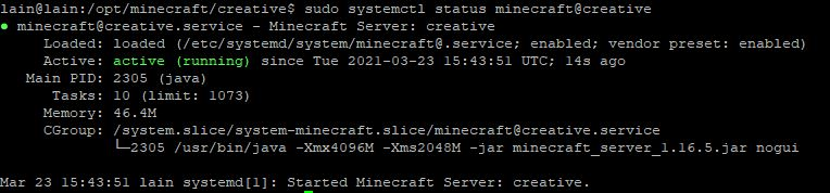 Another server status
