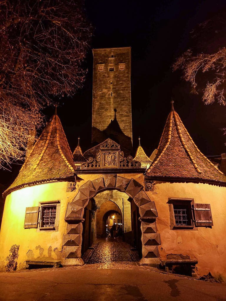 historic entry to rothenburg german town
