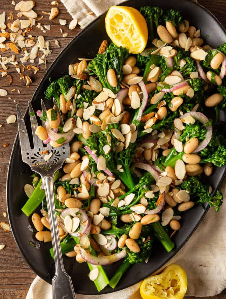 broccolini salad with almonds