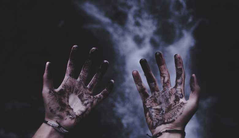 Dirty hands illustrating that Jesus is willing