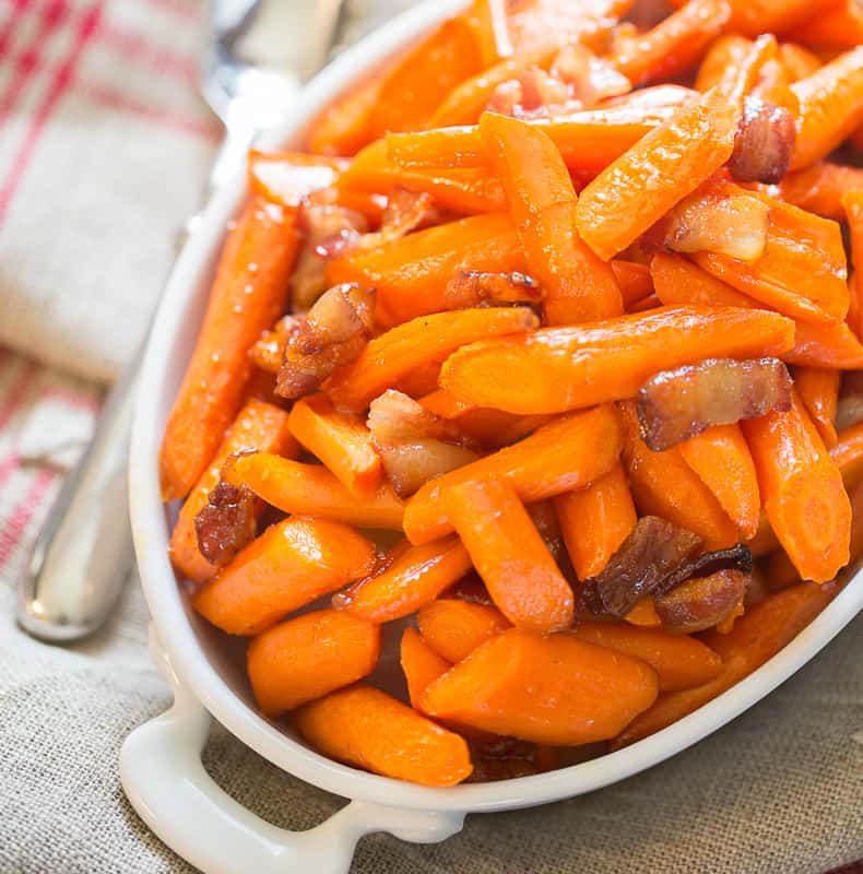 maple bacon roasted carrots